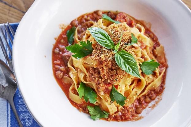 Ресторан «Jamie's Italian», Санкт-Петербург: Вегетарианская паста «Болоньезе»