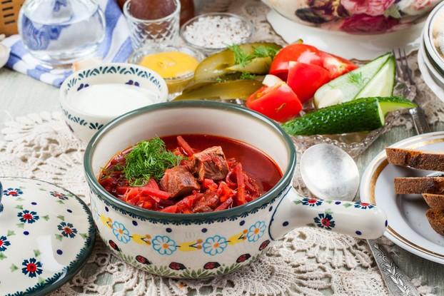 Ресторан «Мари Vanna», Санкт-Петербург: Борщ с говядиной