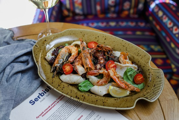 Ресторан «Serbish meat fish», Санкт-Петербург: Плато морепродуктов