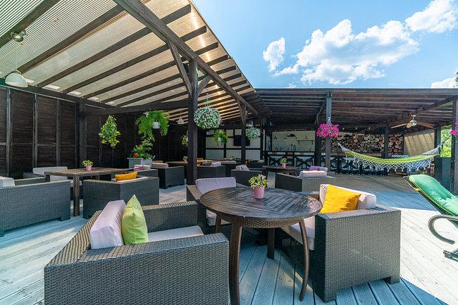 Stroganoff Bar & Grill: Бар на крыше